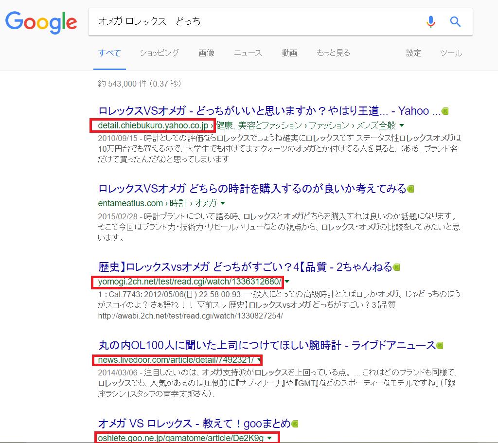 グーグル検索結果