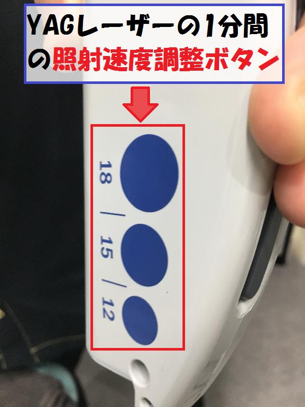 YAGレーザー照射ボタン