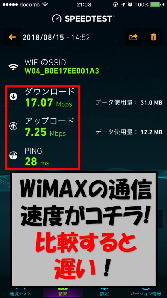 W04の速度