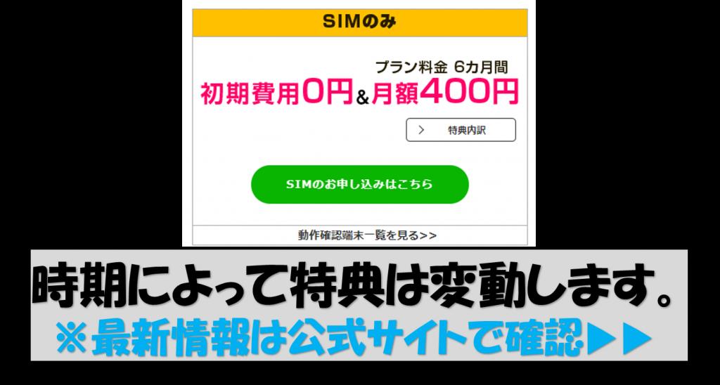 SIM特典