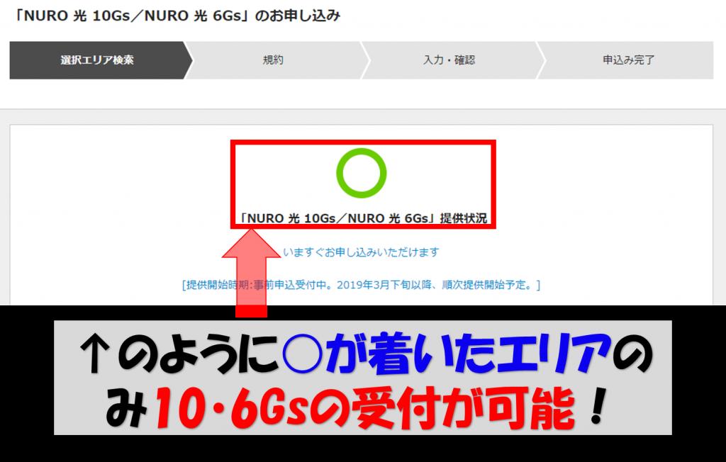 NURO光10Gs提供エリア