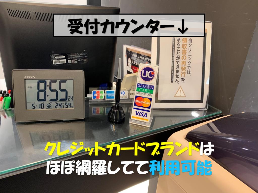 クレジットカード対応ブランド