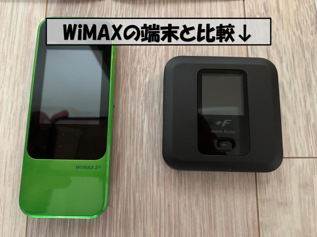 WiMAXとサイズ比較