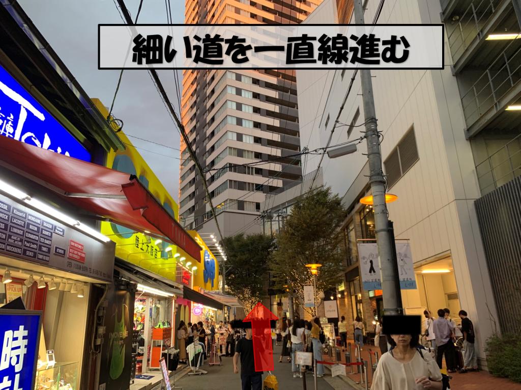 梅田駅からの道のり10