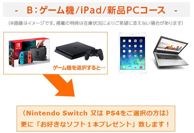 ゲーム機・iPad・新品パソコン
