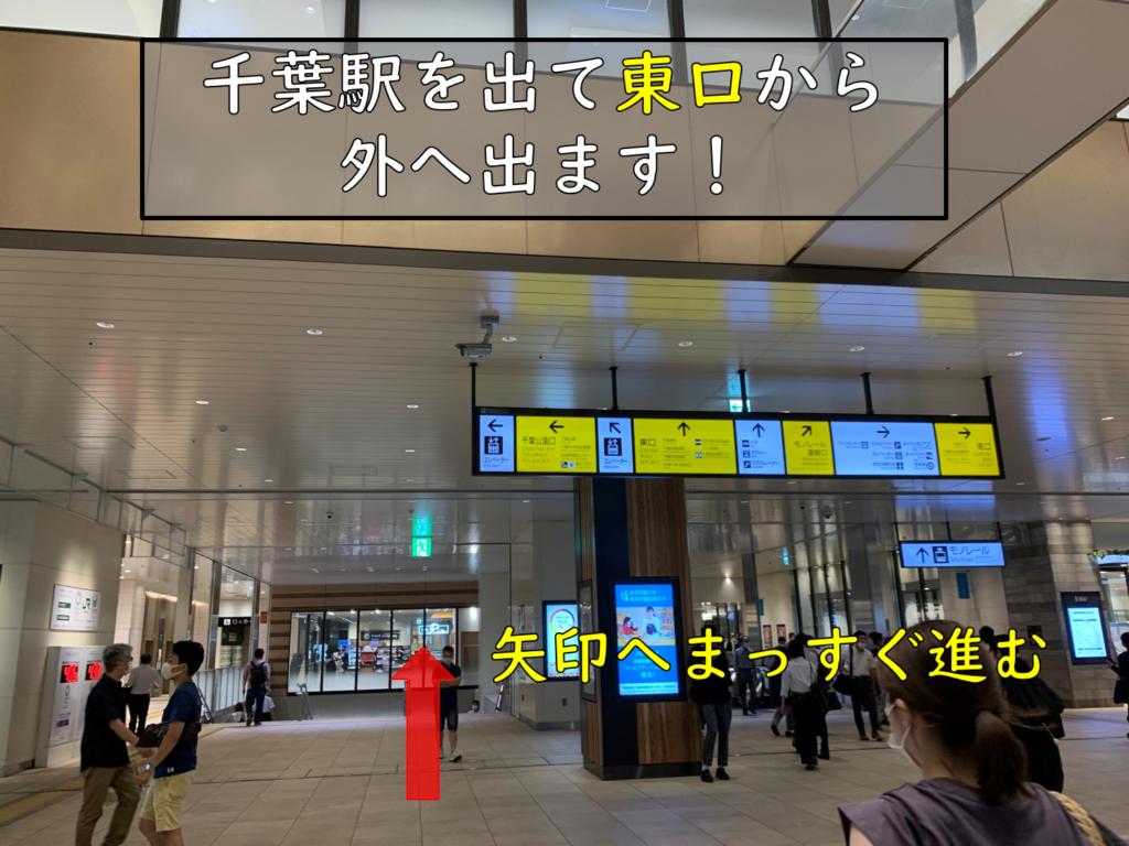 千葉駅から医院まで