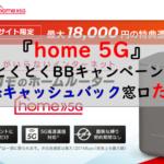 GMOとくとくBB×home 5G