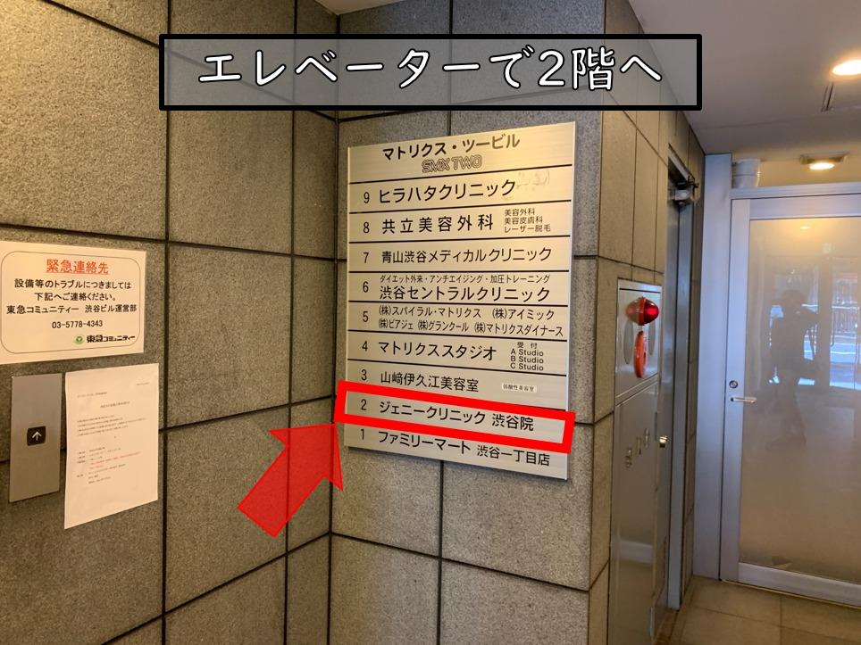 地下鉄の渋谷駅からのルート6